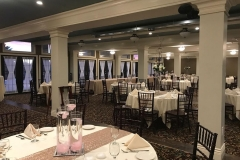 Banquet-room-tables-with-tan-and-pink-accents