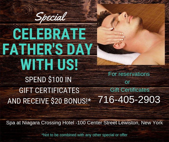 father's spa special flyer
